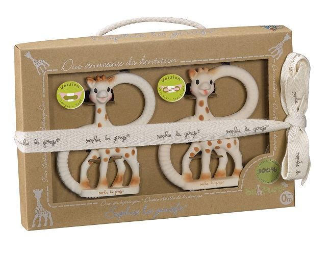 So Pure Sophie la girafe Teether duet (soft and very soft)