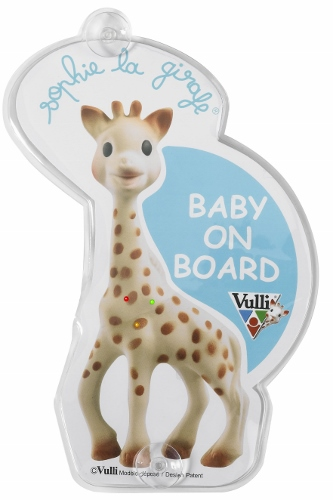 Sophie la girafe Flashing Baby on Board Sign